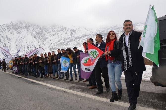 Hakkari'de HDP adaylarına görkemli karşılama galerisi resim 1