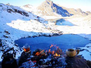 Hakkari'de ilk defa Cilo Sat Gölleri kar ile görüntülendi