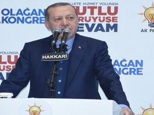 Cumhurbaşkanı Erdoğan Hakkari'dee