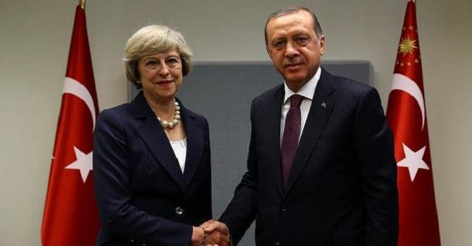 Erdoğan, Birleşik Krallık Başbakanı May ile görüştü