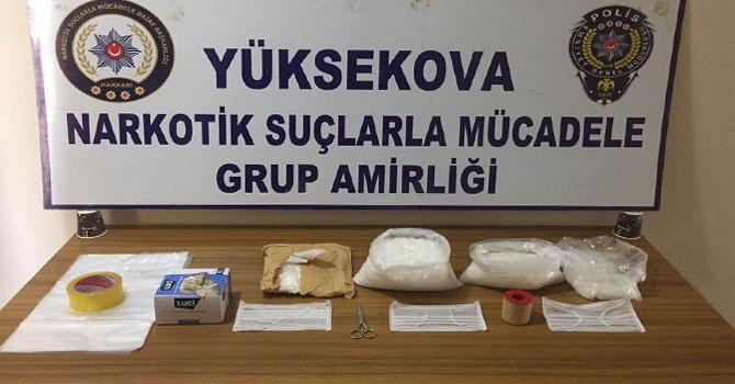 Yüksekova'da uyuşturucu operasyonu: 1 tutuklama