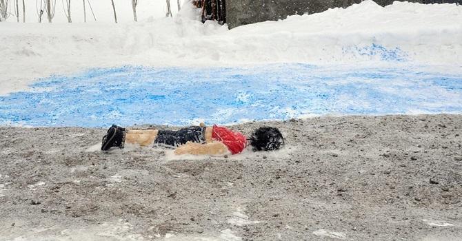Yüksekovalı vatandaş Kardan Aylan ve Ümran bebeği yaptı