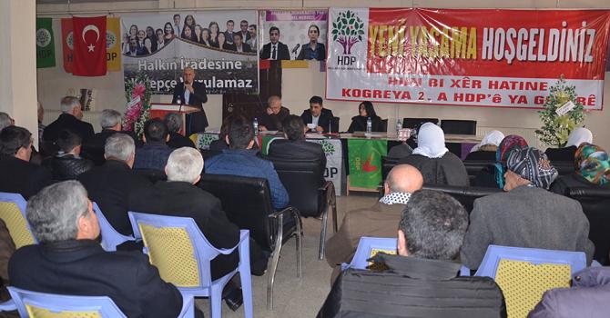 HDP Yüksekova'da 2. Olağan Kongresini yaptı