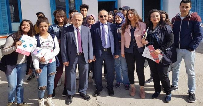 Hakkari Üniversitesi Eğitim Fuarında Tunus'lu Öğrencilerle Buluştu