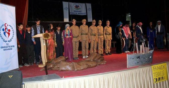 Hakkâri'de Çanakkale adlı tiyatro oyunu sahnelendi