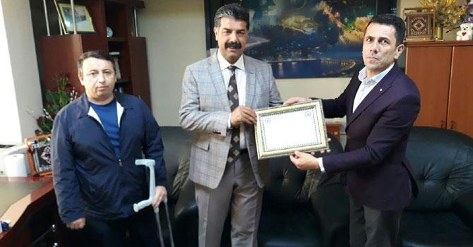 Sümbül Engellilerden VEDAŞ Müdürüne teşekkür