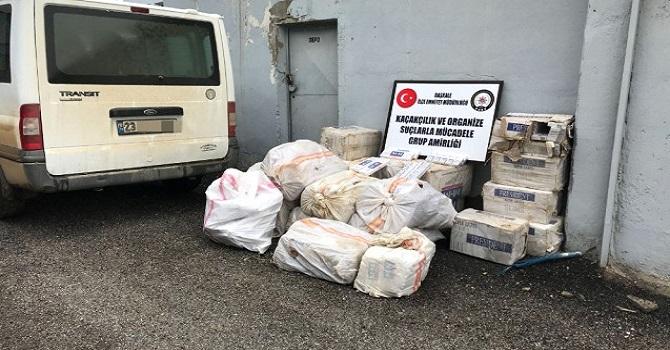 Hakkari-Van karayolunda 16 bin paket kaçak sigara ele geçirilirdi