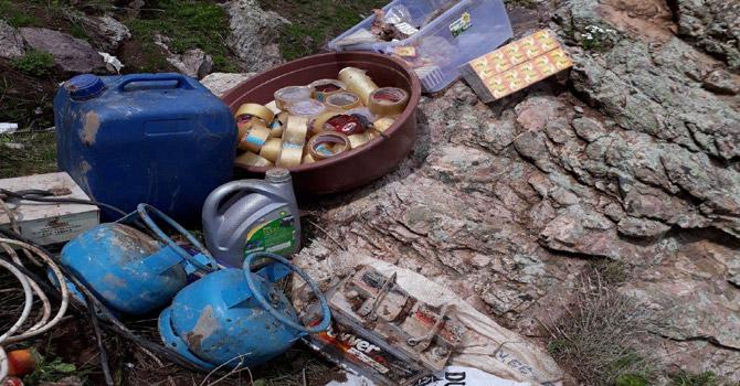 Yüksekova'da 2 sığınakta mühimmat bulundu