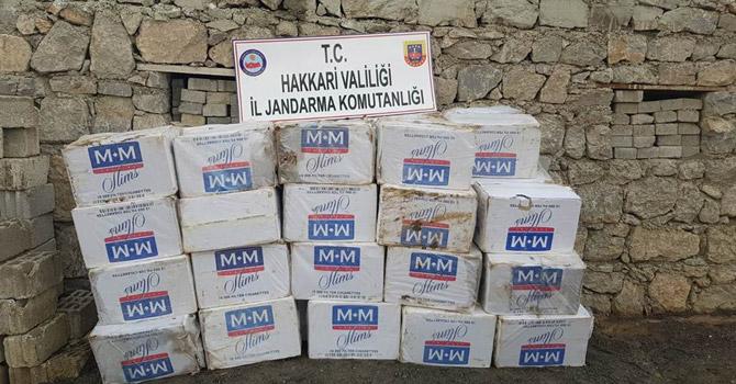 Şemdinli'de 46 bin 500 paket sigara ele geçirildi