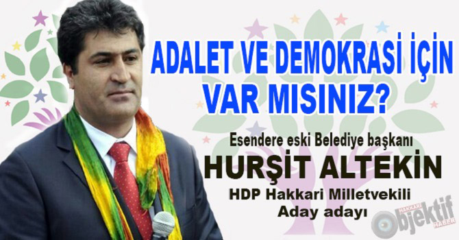 Eski başkan Hurşit Altekin, HDP Aday Adayı