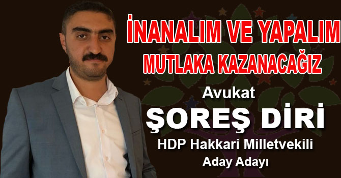 Genç Avukat HDP'den Hakkari aday adayı