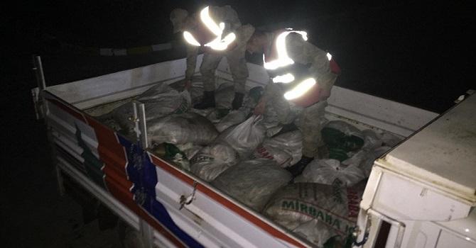 Van'da kaçak avlanan 3 ton inci kefali ele geçirildi