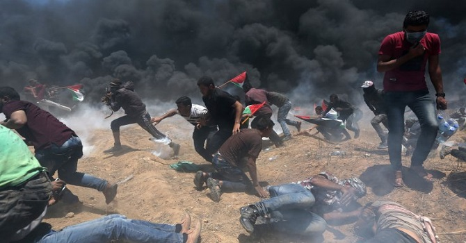 Kudüs protestoları: İsrail gerçek mermi ile vuruyor: 28 ölü