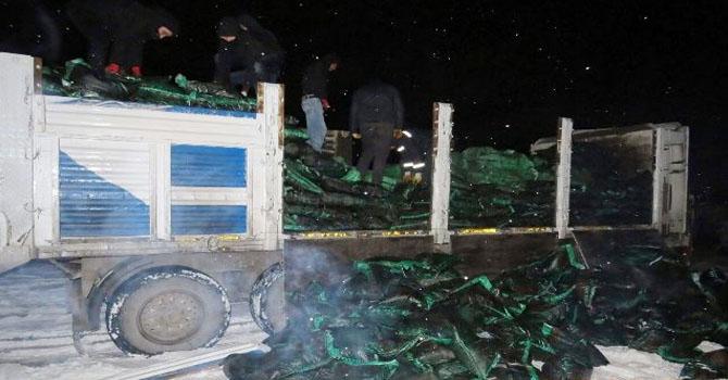 73 bin paket kaçak sigara yakalandı