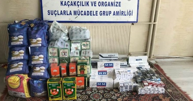 Hakkari'de gümrük kaçağı sigara, Akaryakıt ve çay ele geçirildi