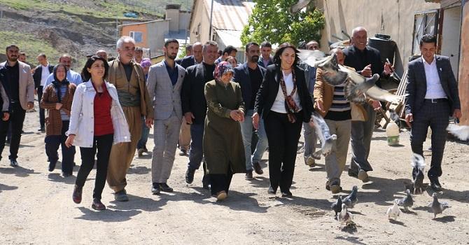 HDP Milletvekili Aday adayları ziyaretlerde bulundu