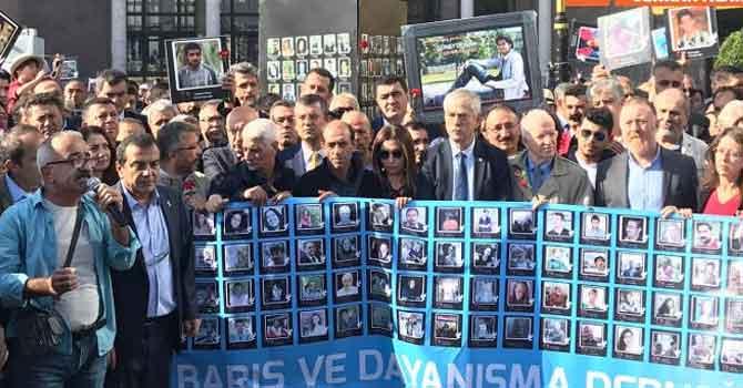 Ankara Garı'nda 10 Ekim anması