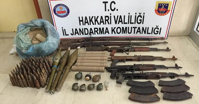 Hakkari'de silah ve mühimmat ele geçirildi: 1 Gözaltı