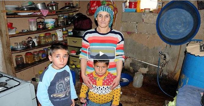 Yüksekovalı aile tek göz odada yaşam mücadelesi veriyor
