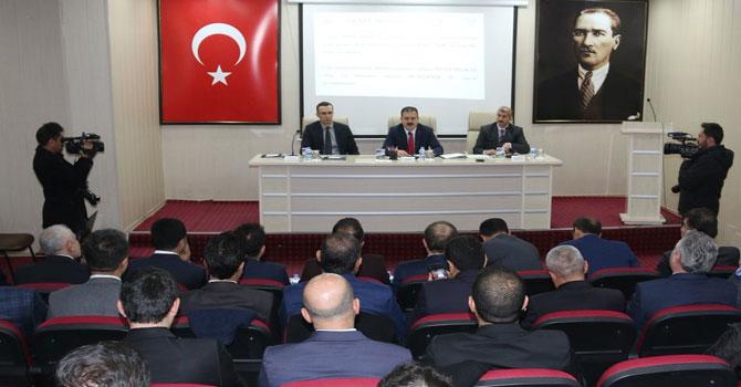 Hakkari'de 2019'un ilk koordinasyon kurulu toplantısı yapıldı