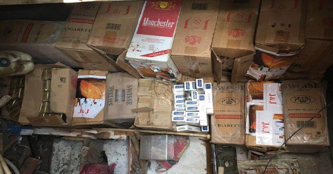 Yüksekova'da 77 bin 500 paket kaçak sigara ele geçirildi