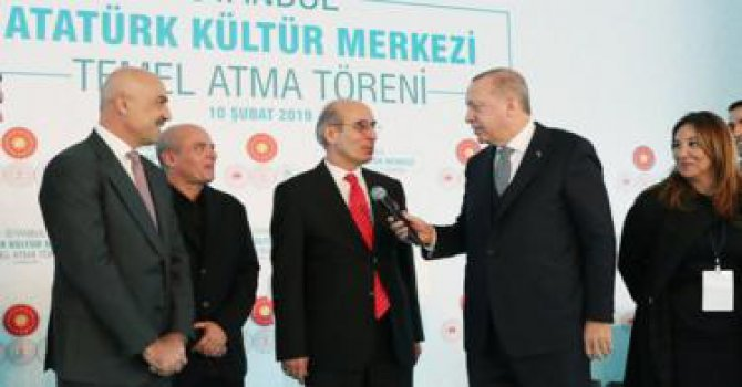 Cumhurbaşkanı Erdoğan AKM'nin temelini attı