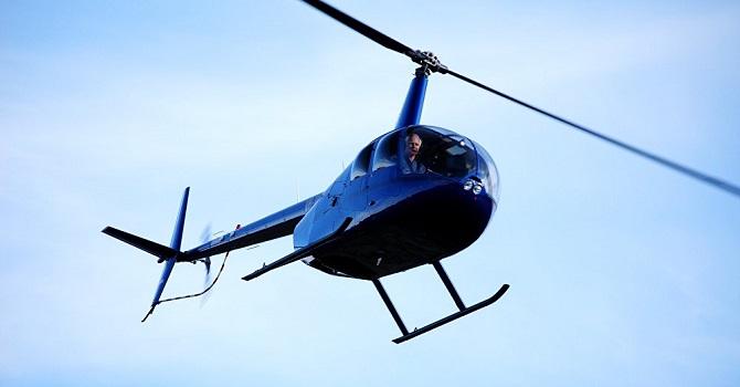 6 kişinin içinde bulunduğu Robinson R66 tipi helikopter düştü