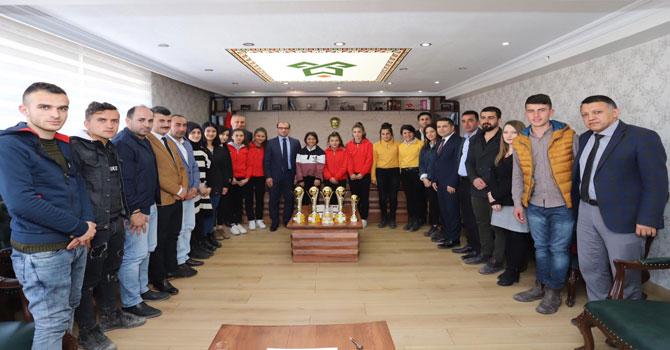 Zerek'ten Kaymakam Ayça'ya tebrik ziyareti!