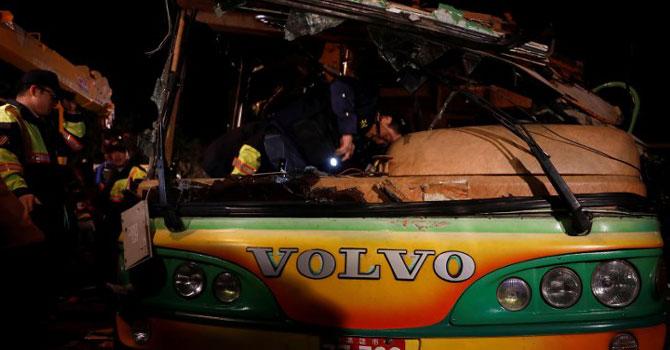 Tayvan'da tur otobüsü devrildi: 32 ölü, 12 yaralı