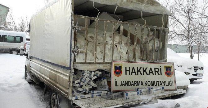 75 bin paket kaçak sigara ele geçirildi!