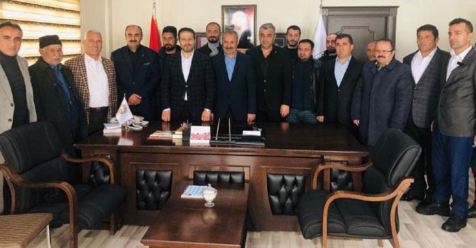 Ak Parti ve MHP'den Demirci'ye tebrik ziyareti