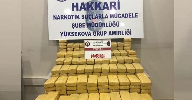 Yüksekova'da 125 kilo eroin ele geçirildi