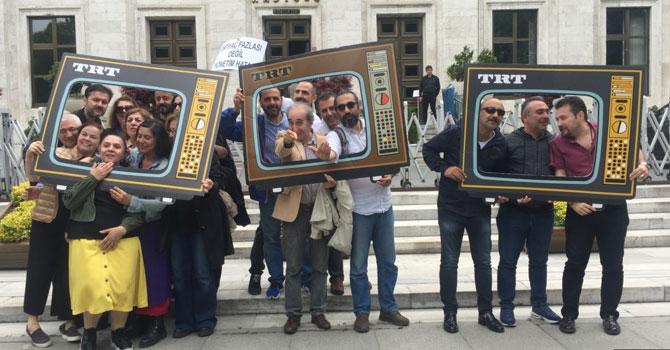 TRT Çalışanlarından Protesto