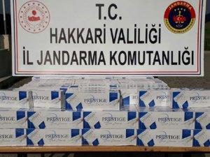 Yüksekova'da 2 bin paket sigara ele geçirildi!