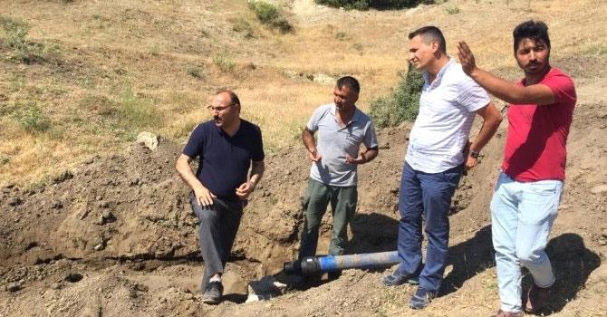 Çukurca'da su şebekesi yenileme çalışması
