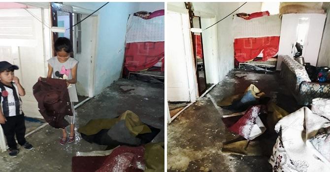 Hakkari'de 8 nüfuslu Aktaş ailesinin evi sular altında kaldı