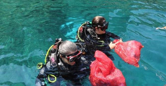 Kadınlar Dünya Dalış Günü'nde ilk kez dalış yaptılar