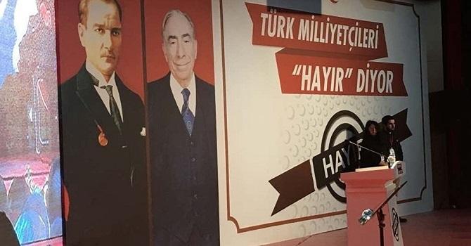 MHP'li muhalifler 'Hayır' kampanyasına Ankara'da başladı