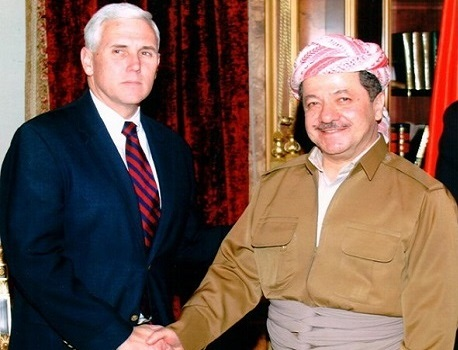 Mesud Barzani Mike Pence ile görüştü!
