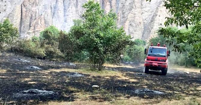 Hakkari'nin Doğanca Köyünde anız yangını!