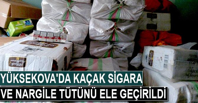 Yüksekova'da kaçak sigara ve nargile tütünü ele geçirildi