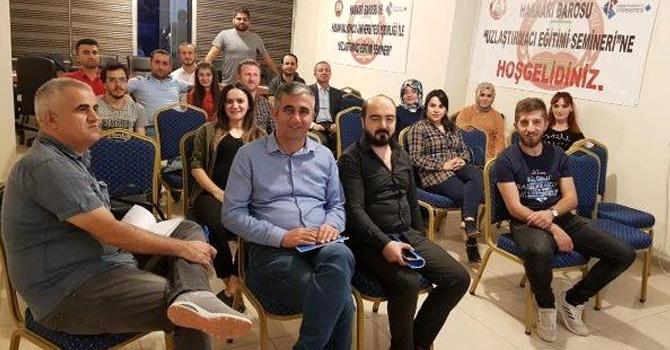 Hakkari'de 'Uzlaştırmacı Eğitimi' semineri