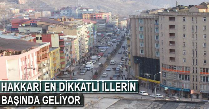 Hakkari Türkiye'nin en dikkatli illerinin başında geliyor
