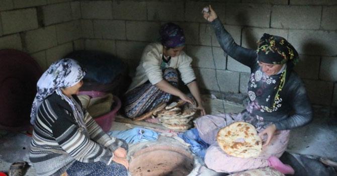 Hakkari'de kadınların kış hazırlıkları başladı