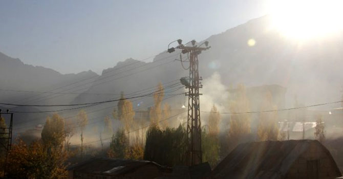 Hakkari'de hava kirliliği