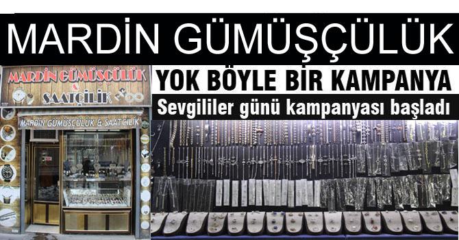 Mardin Gümüşçülük'ten 14 Şubat indirimi