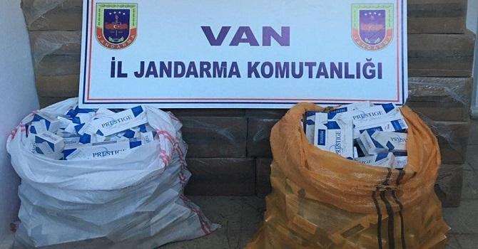 Van'da 156 Bin Paket Kaçak Sigara Ele Geçirildi