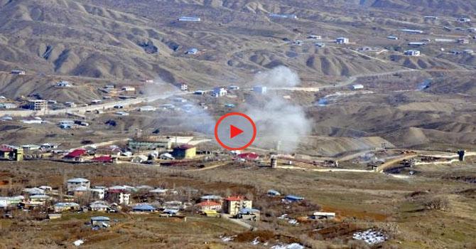 Şemdinli'den kuzey Irak'a yoğun top atışı!