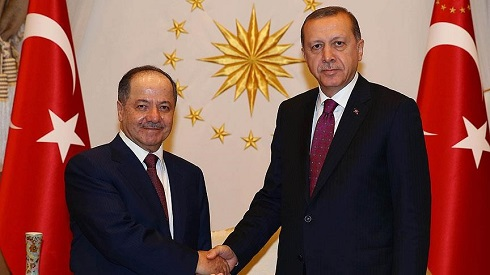 Cumhurbaşkanı Erdoğan, Barzani'yle görüştü