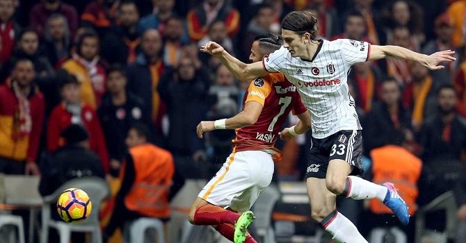 Zorlu derbinin galibi kartal; Galatasaray 0-1 Beşiktaş